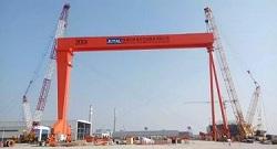 Shipbuilding Gantry Crane Installation | Shipyard Crane