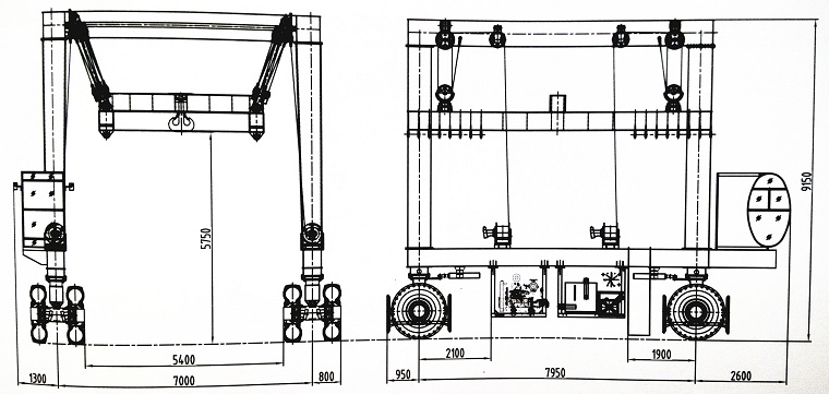 Marine Hoist Sketch