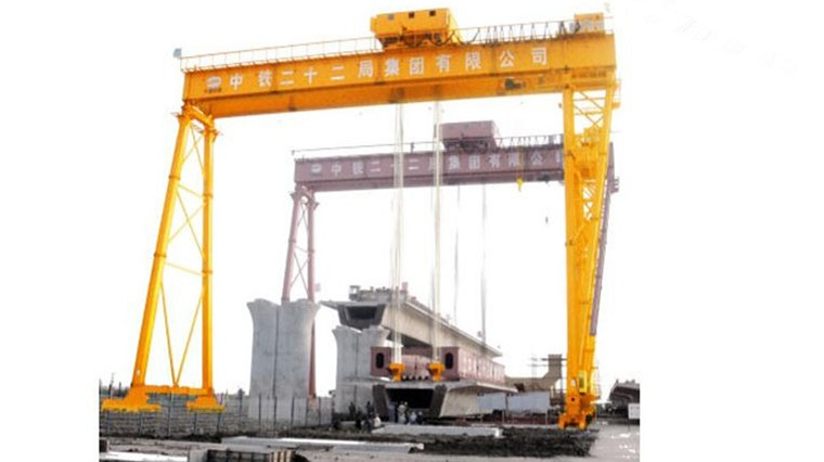 Lift Bridge-Girder Gantry Crane in Operation