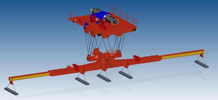 Carrier beam electromagnetic crane carrier beam for Motorized rotating crane hook