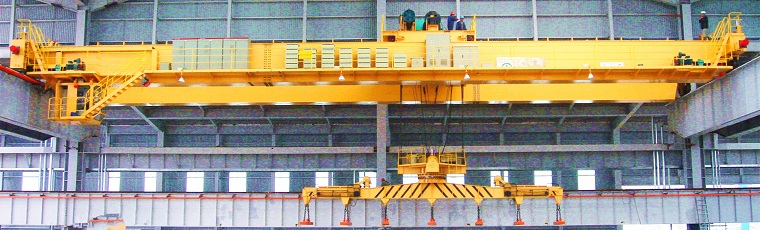 Carrier-Beam Electromagnetic Crane