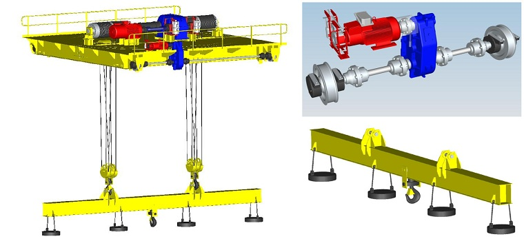 General Use Carrier-beam Crane  Trolley