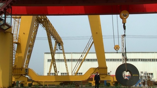 The picture shows the dynamic load test site