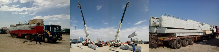 Electric hoist gantry crane delivery to Central Asia