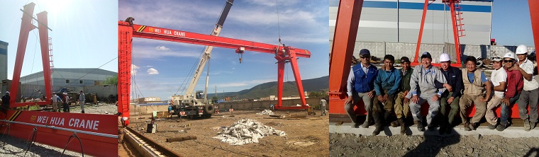 Electric hoist gantry crane - Construction industry - Central Asia