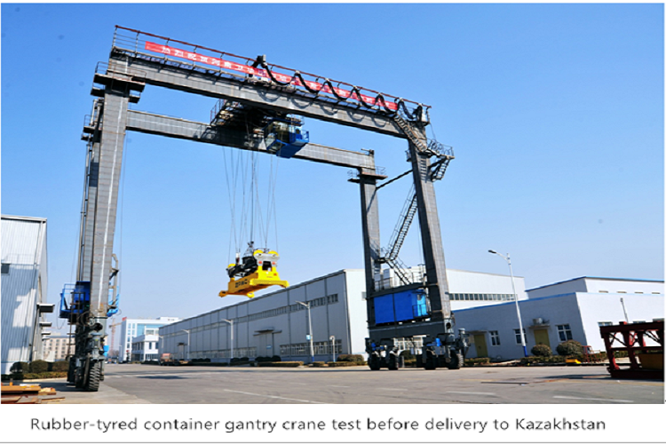 Rubber Tyred Gantry Cranes Translate : Rubber tyred container gantry crane rtg to kazakhstan