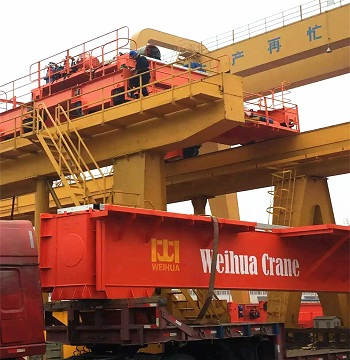 double girder overhead crane inspection before delivery